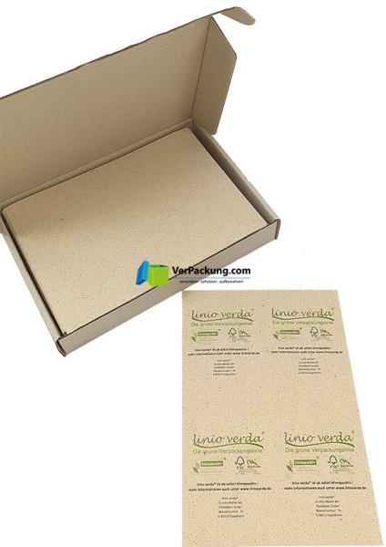 linio verda® Etiketten aus Graspapier - Größe Din A6