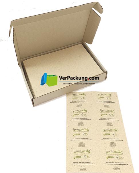 linio verda® Etiketten aus Graspapier - Größe Din A7