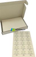 linio verda® Etiketten aus Graspapier - Größe 64 x 47 mm
