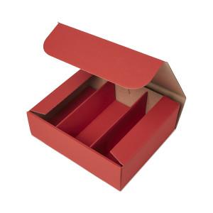 Geschenkbox mit Sichtfenster - Rubinrot