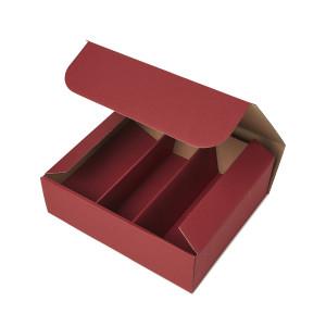 Geschenkbox mit Sichtfenster - Bordeaux