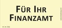 Bedruckte Haftnotiz - Für Ihr Finanzamt gelb/schwarz