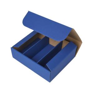 Geschenkbox mit Sichtfenster - Saphirblau