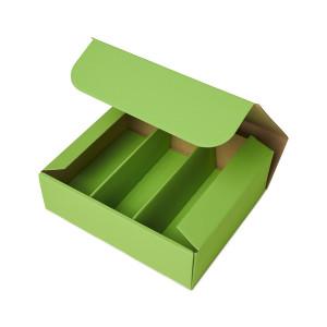 Geschenkbox mit Sichtfenster - Apfelgrün