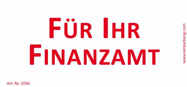 Bedruckte Haftnotiz - Für Ihr Finanzamt weiß/rot