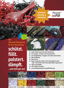 Presentfill farbiges Füllmaterial Magenta 250 g
