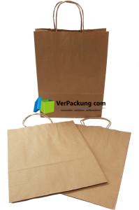 Papiertragetasche braun Größe M - 320 + 140 x...