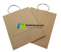 Papiertragetasche braun Größe M - 320 + 140 x 410 mm