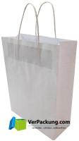 Papiertragetasche weiss Größe S - 240 + 100 x 310 mm