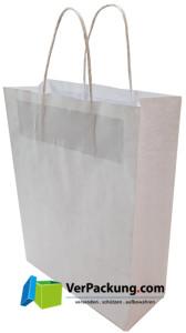 Papiertragetasche weiss Größe L - 450 + 150 x...