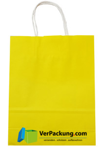 Papiertragetasche gelb Größe S - 240 + 100 x...
