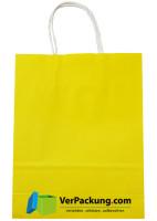 Papiertragetasche gelb Größe S - 240 + 100 x 310 mm