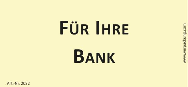 Bedruckte Haftnotiz - Für Ihre Bank gelb/schwarz