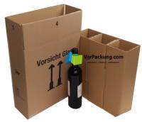 PTZ - Flaschenversandkarton 6er DHL UPS SET