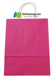 Papiertragetasche pink Größe M - 320 + 140 x 410 mm
