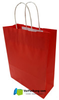 Papiertragetasche rot Größe S - 240 + 100 x 310 mm