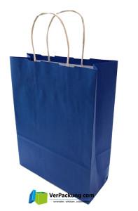 Papiertragetasche blau Größe S - 240 + 100 x 310 mm