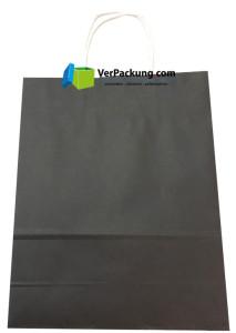 Papiertragetasche schwarz Größe S - 240 + 100 x 310 mm