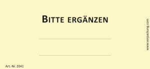 Bedruckte Haftnotiz - Bitte ergänzen gelb/schwarz