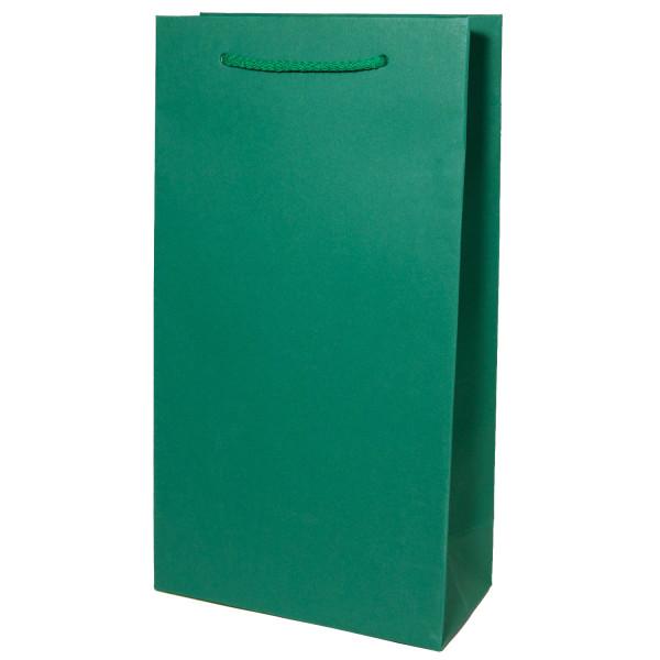 Flaschentasche 2er, Smaragd Grün