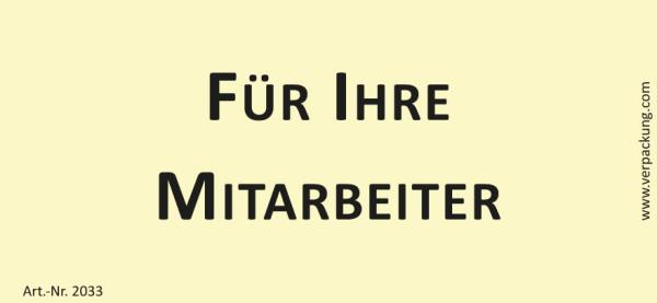 Bedruckte Haftnotiz - Für Ihre Mitarbeiter gelb/schwarz