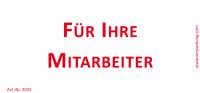 Bedruckte Haftnotiz - Für Ihre Mitarbeiter weiß/rot