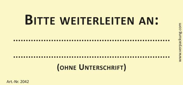 Bedruckte Haftnotiz - Bitte weiterleiten an  gelb/schwarz