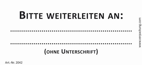 Bedruckte Haftnotiz - Bitte weiterleiten an  weiß/schwarz