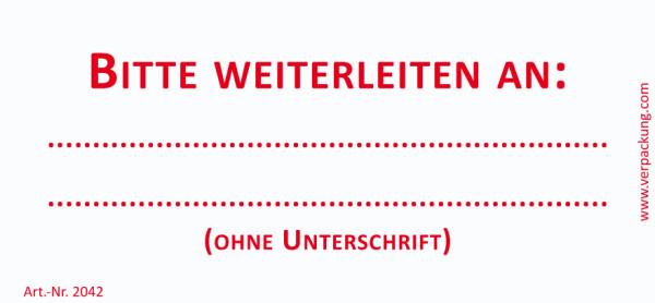 Bedruckte Haftnotiz - Bitte weiterleiten an  weiß/rot