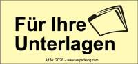 Bedruckte Haftnotiz - Für Ihre Unterlagen gelb/schwarz