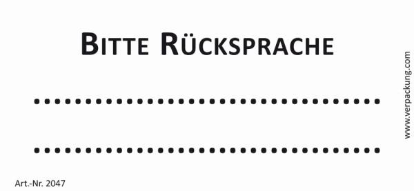 Bedruckte Haftnotiz - Bitte Rücksprache  weiß/schwarz