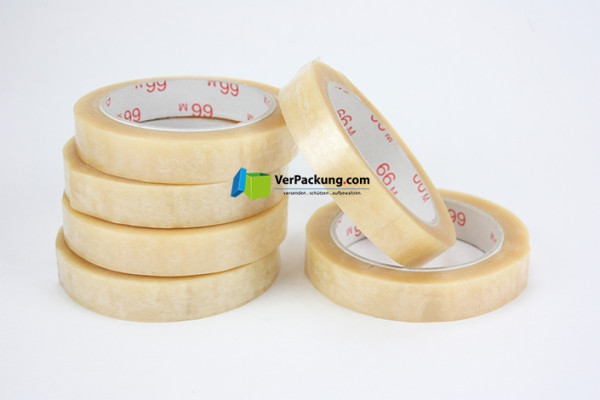 Packklebeband PP standard - 19 mm x  66 lfm transparent