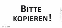 Bedruckte Haftnotiz - Bitte kopieren! weiß/schwarz