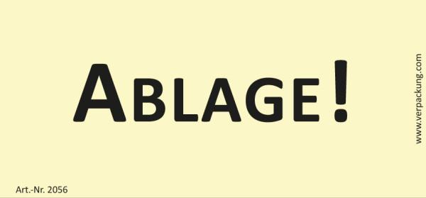 Bedruckte Haftnotiz - Ablage!  gelb/schwarz