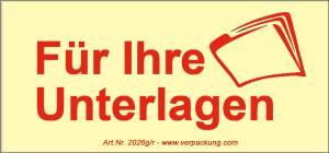 Bedruckte Haftnotiz - Für Ihre Unterlagen gelb/rot