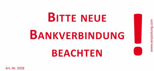 Bedruckte Haftnotiz - Bitte neue Bankverbindung beachten!  weiß/rot