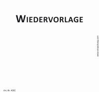 Bedruckte Haftnotiz - Wiedervorlage weiß/schwarz