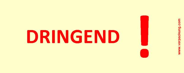 Bedruckte Haftnotiz - Dringend! gelb/rot