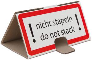 Stapelschutzhinweis / Palettenstapelschutz