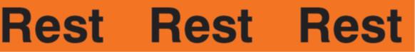 """Warnband """"Rest"""" - 50 mm x 66 lfm - PVC Folie orange/schwarz"""