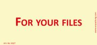 Bedruckte Haftnotiz - For your files gelb/rot