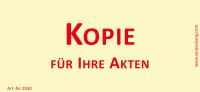 Bedruckte Haftnotiz - Kopie für Ihre Akten gelb/rot