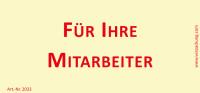 Bedruckte Haftnotiz - Für Ihre Mitarbeiter gelb/rot
