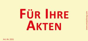 Bedruckte Haftnotiz - Für Ihre Akten gelb/rot