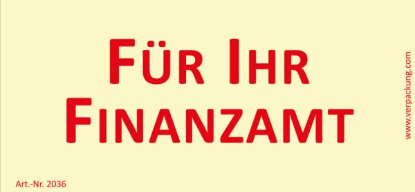 Bedruckte Haftnotiz - Für Ihr Finanzamt gelb/rot