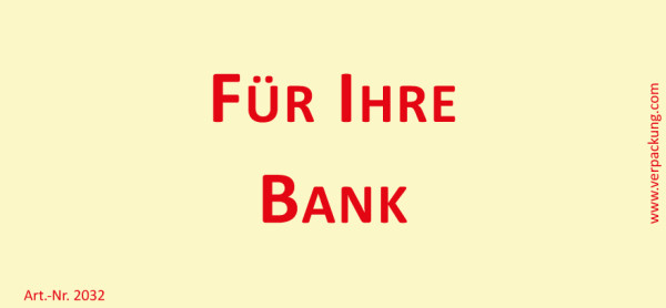 Bedruckte Haftnotiz - Für Ihre Bank gelb/rot