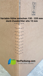 QBP 106sk 304 x 216 x 130 - 220 mm