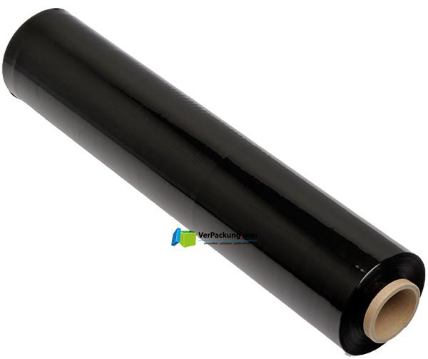 Handstretchfolie 23µ - 500 mm Rollenbreite schwarz opak