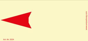Bedruckte Haftnotiz - Pfeil nach links gelb/rot