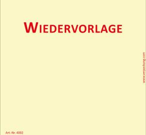 Bedruckte Haftnotiz - Wiedervorlage  gelb/rot
